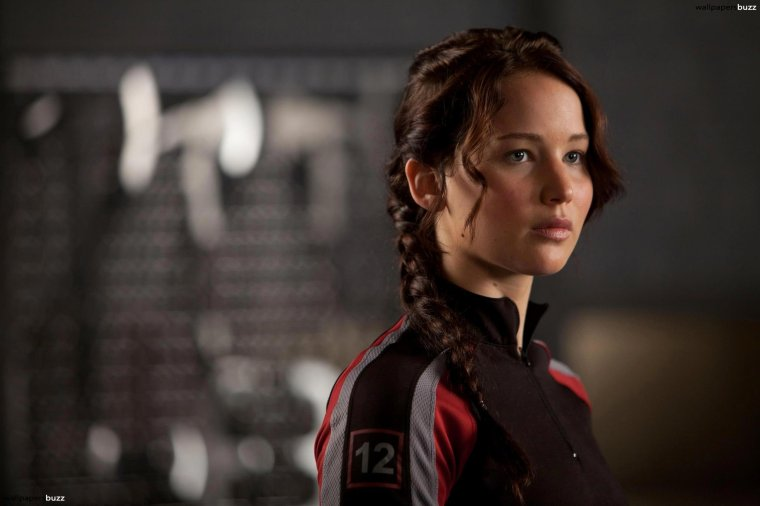 Jennifer Lawrence i rollen som Katniss Everdeen